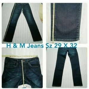 H&M Jeans Straight legs Stretch 29 x 32